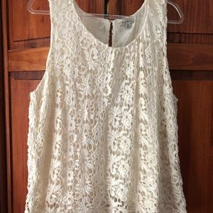 Lucky Brand Lace Crochet top